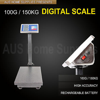 100g / 150kg Electronic Computing Platform Digital Scale Weight Shop dog weight