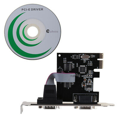 PCI-E PCI to Dual Serial Controller Adapter DB9 RS232 2-Port Serial Card Express