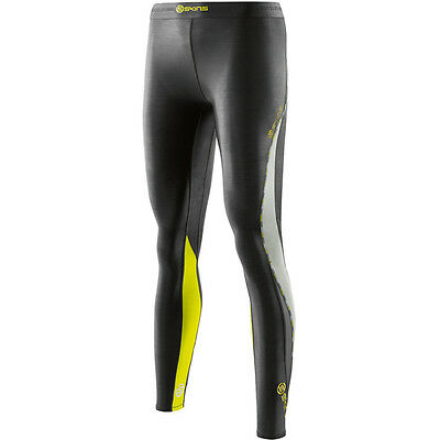 SUPER SPECIAL Womens Skins Compression DNAmic Long Tights ( Black / Limoncello )