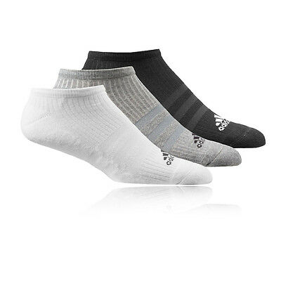Adidas 3 Stripe Performance No Show Hc Hombre Mujer Running Calcetines 3 Paquete