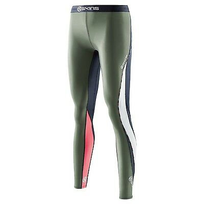 SUPER SPECIAL Womens Skins Compression DNAmic Long Tights ( Midnight / Sage  )