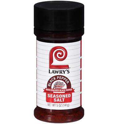 Lawrys Black Pepper Seasoned Salt Seasoning - 5 Oz - Pack of 1