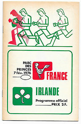 1976 - France v Ireland, Five Nations Match Programme.