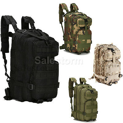 30L 3P Tactical Outdoor Army Military Rucksack Hiking Sport Camping Backpack Bag