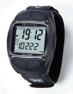 Branded Sport Watch CicloSport Alpine Black Stainless Steel Altimeter Pulse