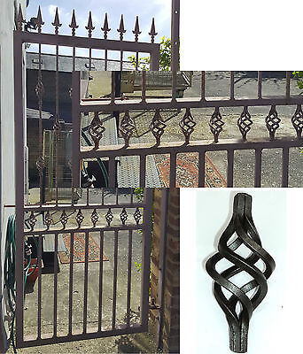 10 Wrought iron Wire Basket For Gates,Railing etc.