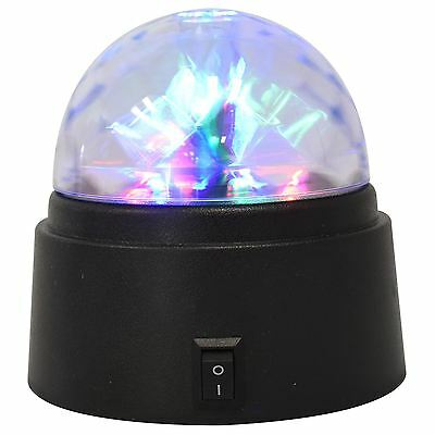 Crystal Star Ball Flashing colour LED Spinning Party Disco Light Battery-Power