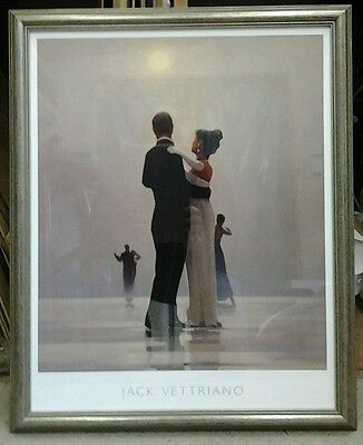 Dance me to the end of love by Jack Vettriano Deluxe Framed Art Print
