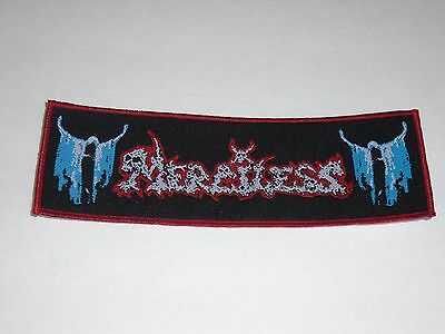 Merciless Death/thrash Metal Woven Patch