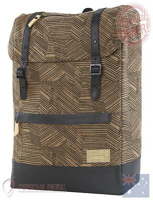 Genuine Hex Division Collection 16Oz Waxed Canvas Cloak Backpack - Black/Brown N