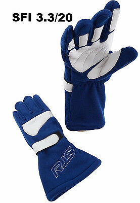 Rjs Racing Equipment Sfi 3.3/20 Racing Gloves Elite Gloves Sfi 20 Blue Size Xl