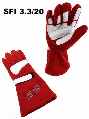 Rjs Racing Equipment Sfi 3.3/20 Racing Gloves Elite Gloves Sfi 20 Red Size Large