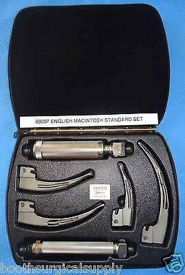 Welch Allyn #69097 English Macintosh (Emac) Standard Laryngoscope Set