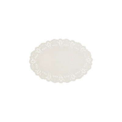 250x Disposable Lace Doyley White Oval 150x220mm Enviroboard Doily Doilies NEW