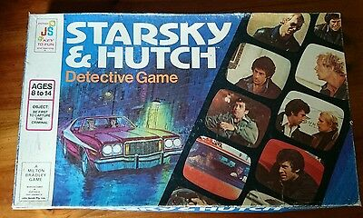 Vintage Starsky and Hutch Detective Board Game Complete GC 1977 Milton Bradley