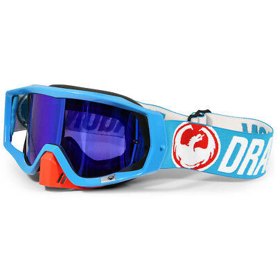 Dragon NEW Mx Vendetta Flash Dirt Bike Ion Blue Steel Tinted Motocross Goggles