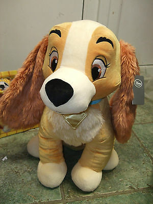 XL LARGE LADY AND THE TRAMP LADY SOFT TOY PLUSH 49 CMS TALL vgcc