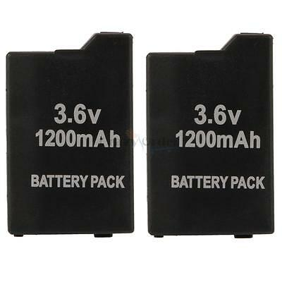 2 X New 3.6V 1200mAh Replacement Battery Pack for Sony PSP 2000 3000 UK