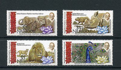 Niuafo'ou 2016 MNH FIPIC 2nd Summit 4v Set Gandhi Flowers Elephants Lions Stamps