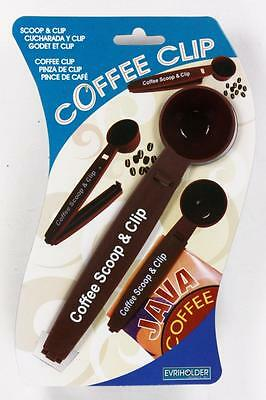 Coffee Scoop and Clip Keep Coffee Beans Fresh Filter Cappuccino