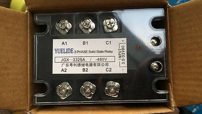 480VAC 25A Output DC/AC Three Phase SSR Solid State Relay 3.5-32VDC Input