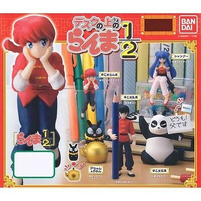 NEW Bandai Ranma 1/2 all five set on the Gashapon desk anime import Japan
