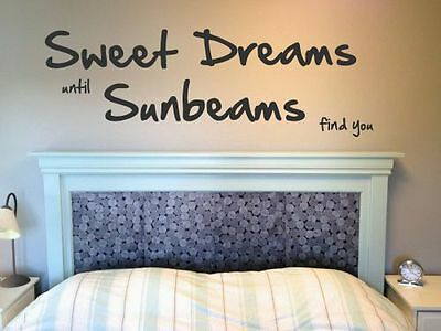 "Wall art sticker ""Sweet dreams"" Wall Décor , decal , Vinyl ,Decoration , modern"