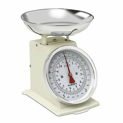 Hanson 5kg Traditional Mechanical Kitchen Measuring Weighing Scales - Cream