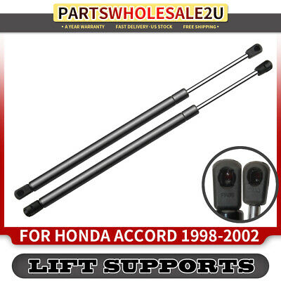 2x Front Bonnet Hood Gas Lift Supports Shock Struts for Honda Accord 1998-2002