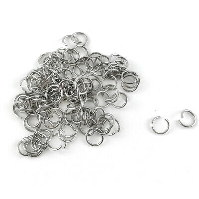 Packet 100+ Silver 304 Stainless Steel Round Open Jump Rings 1 x 8mm Y01850