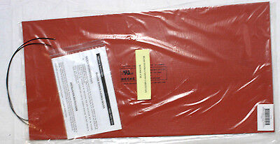 "New! Beehe 3CDD1A Silicone Rubber Fexible Heater Mat 24"" x 12"", 1440 Watt"
