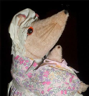Handcrafted Mouse Meet Mummy and Babe Mice by Marion Vintage from England