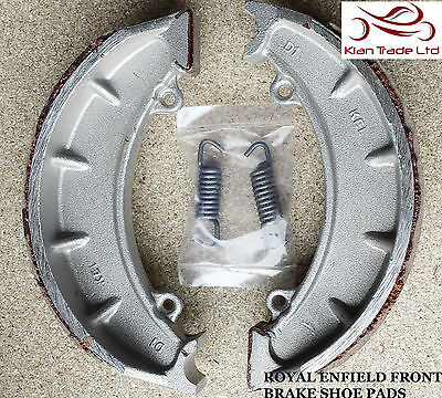 """Motorcycle Royal Enfield Bullet Spare Part Front Brake Shoe Pair Pads 7"""""""
