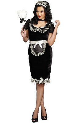 Brand New French Maid Keep it Clean Plus Size Costume