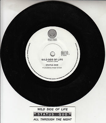 "STATUS QUO  Wild Side Of Life 7"" 45 rpm vinyl record + juke box title strip NEW"