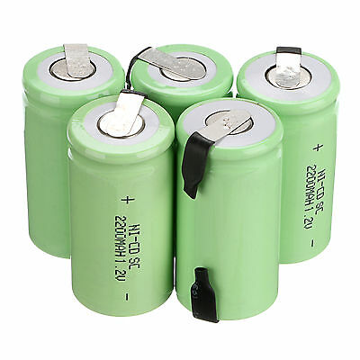 10PCS Sub C SC 1.2V 2200mAh Ni-Cd NiCd Rechargeable Battery Batteries New Power