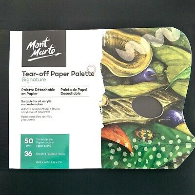 Mont Marte Tear Off Paper Palette 36 Sheets Wax Coated Paper 50 GSM