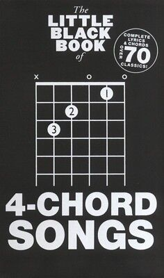 The Little Black Book of 4-Chord Songs Lyrics and Chords Book *NEW* Four, Guitar