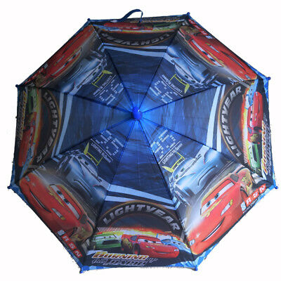Kids Boys Disnay Pixar Cars Lighting Mcqueen Rain Proof Umbrella Parasol Mater
