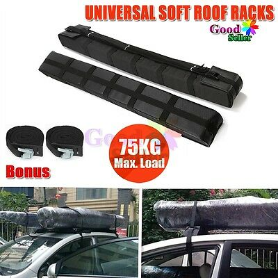 Double Soft Roof Rack Kayak Canoe Package Surfboard Skis Car Roof Mount Holder