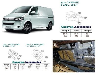 Water Tank Kit Fresh & Waste for Volkswagen T5 & T6 Camper Conversions VW
