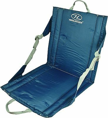 DELUXE FOLDING CHAIR Blue compact camping seat beach festivals fishing garden