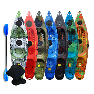 Kayak Sit On Top One Person - 9.4ft - FREE Paddle & Backrest - Deluxe - Riber