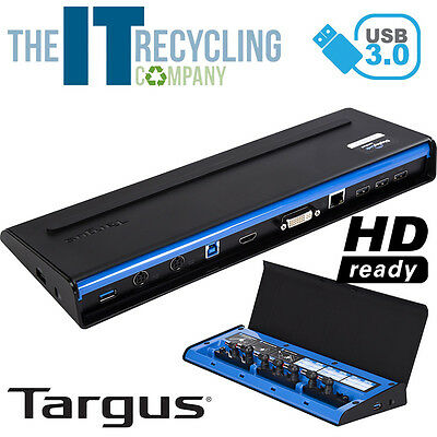 Targus Acp71Eu Usb 3.0 Superspeed Dual Video Docking Station With Power