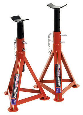 Sealey Tools AS2500 2.5 Ton Each 5T Pair Axle Stands 505mm High Car Van New