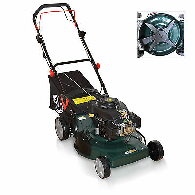 "BMC Lawn Racer 20"" 4 Blade Quad Cut Self Propelled 4in1, 5.5HP Petrol Lawn Mower"