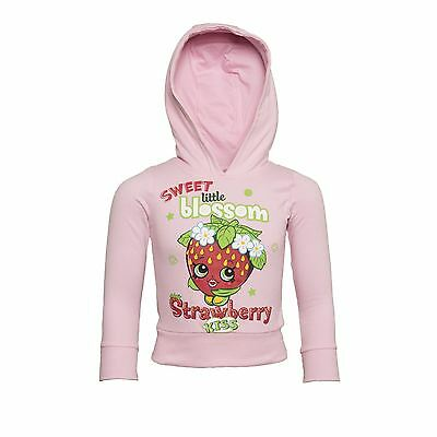 Official Licensed SHOPKINS Shopkin Premium Youth Hoodie Pink Strawberry Scented