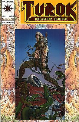1993 Turok Dinosaur Hunter #1-4 Valiant Comics #1 Embossed / Foil Cover Vf- Nm