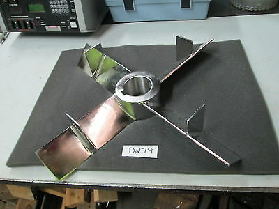 """Lightnin Mixer S/S Impeller A200 W/ FIN 20"""" DIA 5/8"""" KW Polished S/S (New)"""