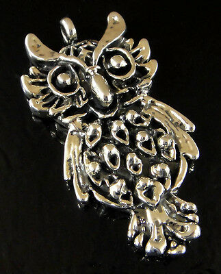 Handmade 925 sterling silver owl pendant from taxco mexico handmade 925 sterling silver owl pendant from taxco mexico mozeypictures Image collections
